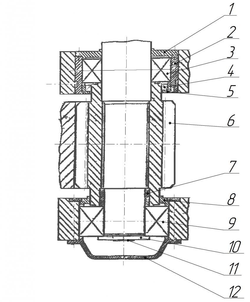 Нижняя часть редуктора поворота